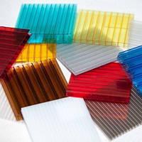 Полікарбонат стільниковий 4 мм 2100х6000 мм синій, червоний, зелений, жовтий, молочний