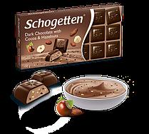Schogetten Dark Chocolate with Cocoa & Hazelnuts черный шоколад с какао и лесным орехов 100 гр