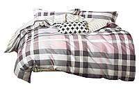 Комплект постельного белья Хлопковый Сатин NR C1335 Oulaiya 7893 Бежевый, Розовый, Серый