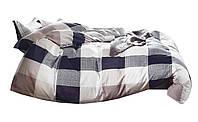 Комплект постельного белья Хлопковый Сатин NR C1336 Oulaiya 8548 Бежевый, Серый, Фиолетовый