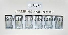 Набор лак-красок для стемпинга Bluesky STAMPING NAIL POLISH, белый
