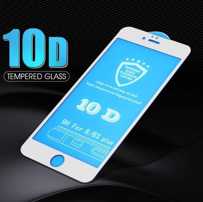 Защитное стекло 10D для iPhone - white