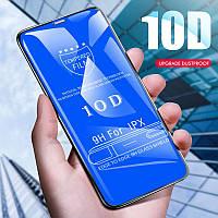 Защитное стекло 10D для iPhone - black