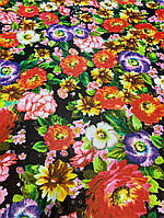 Ткань одежная шифон с цветами