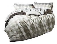 Комплект постельного белья Хлопковый Сатин NR C1338 Oulaiya 8203 Бежевый, Серый