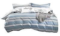 Комплект постельного белья Хлопковый Сатин NR C1339 Oulaiya 8050 Синий
