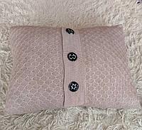 Подушка вязаная декоративная ручной работы, фото 1
