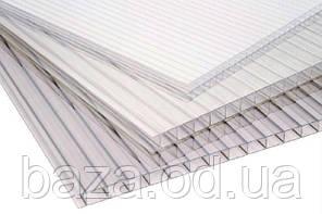 Полікарбонат стільниковий 6 мм 2100х1000 мм (2,1 м2) прозорий