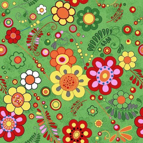 Коврик детский цветной Цветы 40