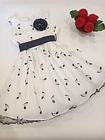 """Нарядное платье для девочки """"Музыкальные нотки""""  Garden Baby., фото 1"""