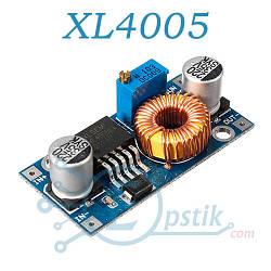 XL4005, DC-DC преобразователь понижающий, регулируемый от 1 - 32В, 5А