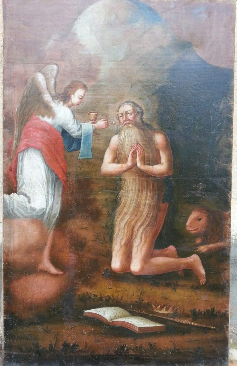 Икона святой Онуфрий 18-нач.19 века