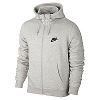 Толстовка Nike, Найк в стиле, серая, на змейке