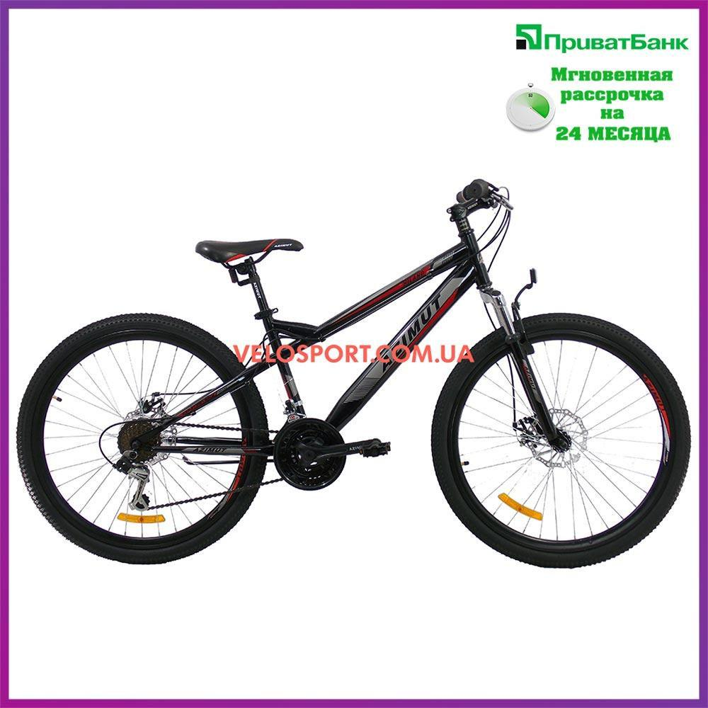 Горный велосипед Azimut Hiland 26 GD черно-красный