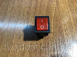 Клавиша широкая, с подсветкой (светодиодом),(широкая) модель S12111/16А/250V/T125  SETEL,(Турция).