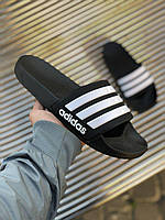 Сланцы, тапочки, шлепки Adidas Sliders White Black