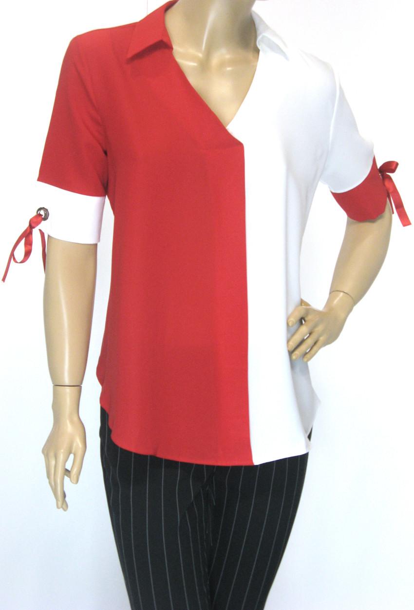 Нарядна блуза короткий рукав Sassina