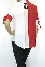 Нарядна блуза короткий рукав Sassina, фото 3