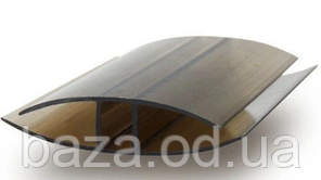 З'єднувальний Н-профіль 8 мм x 1 м/п бронзовий
