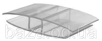 Соединительный Н-профиль 6 мм x 1 м/п  прозрачный