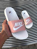 Женские сланцы, тапочки, шлепки Nike Sliders Rose White