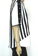 Шифонова нарядна блуза в полоску , фото 3