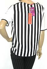 Шифонова нарядна блуза в полоску , фото 2