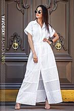 Летнее платье  хлопок размер S M L ML цвет белый