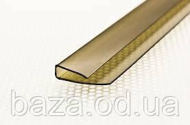 Торцевой U-профиль 10мм x 2,1м бронзовый