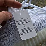Женские кроссовки Adidas Yeezy 350 белые 36-44 рр.  Живое фото (Реплика ААА+), фото 9