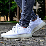Женские кроссовки Adidas Yeezy 350 белые 36-44 рр.  Живое фото (Реплика ААА+), фото 7