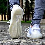 Женские кроссовки Adidas Yeezy 350 белые 36-44 рр.  Живое фото (Реплика ААА+), фото 5