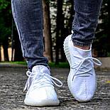 Женские кроссовки Adidas Yeezy 350 белые 36-44 рр.  Живое фото (Реплика ААА+), фото 4