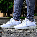 Женские кроссовки Adidas Yeezy 350 белые 36-44 рр.  Живое фото (Реплика ААА+), фото 6