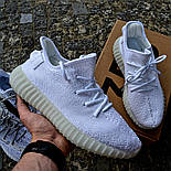 Женские кроссовки Adidas Yeezy 350 белые 36-44 рр.  Живое фото (Реплика ААА+), фото 10