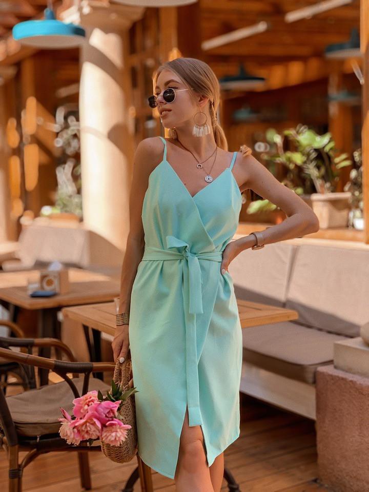 e2691e7253051ab Женское модное льняное платье с поясом - PARADISE ...с нами модно в Одессе