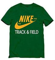 Мужская спортивная футболка Найк, Nike, зелёная