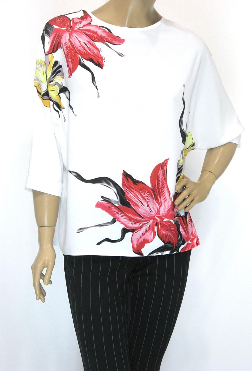 Нарядна шифонова блуза з стразами Ezgola