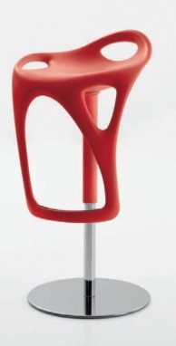 Дизайнерський барний стілець FORM 489 червоний COMPAR (Італія)