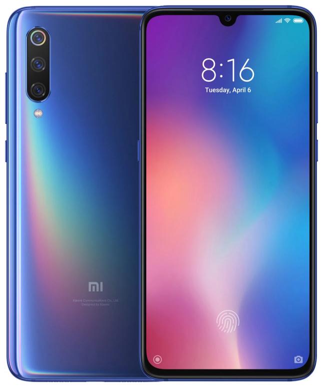 """Xiaomi Mi 9 Ocean Blue 6/128 Gb, 6.39"""", Snapdragon 855, 3G, 4G (Global)"""