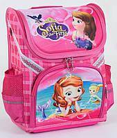 Ранець шкільний каркасний Софія для дівчаток 1, 2, 3 клас  Рюкзак портфель ортопедичний для школи Рожевий
