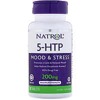 Natrol, 5-HTP (5-гидрокситриптофан) TR, Time Release, 200 мг, 30 таблеток, фото 1