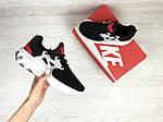 Женские кроссовки Nike Presto React (черно-белые с красным) , фото 3