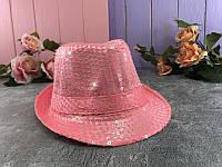 Шляпа пайетка Розовая