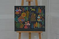 Картина на полотні в українському стилі олійними фарбами