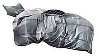 Комплект постельного белья Хлопковый Сатин NR C1351 Oulaiya 8784 Серый