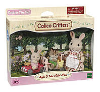 Набор Calico Critters на прогулке Sylvanian Families  Apple & Jake's Ride n Play