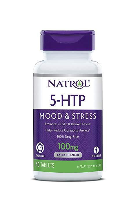 Natrol, 5-HTP (5-гидрокситриптофан) TR, Time Release, 100 мг, 45 таблеток, фото 1