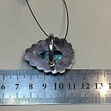 Лабрадор кольцо с натуральным лабрадором в серебре кольцо капля с лабрадором 20-20,2 размер Индия, фото 6