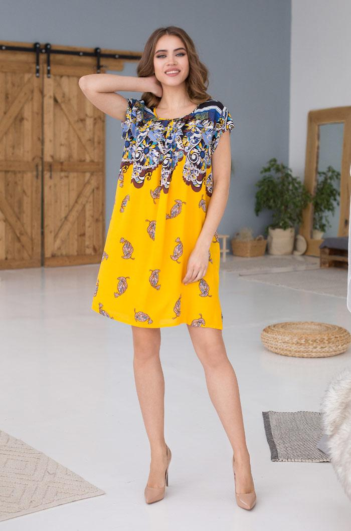 Летнее платье из легкой вискозы. Италия. Mia Mia  SOLE VIVA 16363